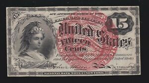 US 15c Fractional Currency 4th Issue FR 1267 Ch AU (006)
