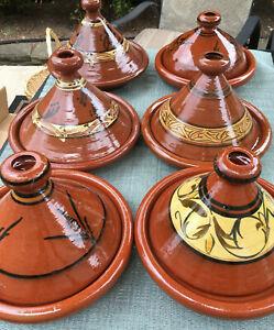 Moroccan Tagine Tajine Dish Exquisite Handmade Traditional Clay Pottery 1 piece*