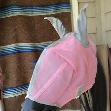 Pink Royal Equine diamond series Warmblood/draft horse sz fly mask w/ears, bling