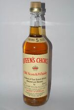 WHISKY QUEEN´S CHOICE BLENDED OLD SCOTCH WHISKY 5 YEARS OLD AÑOS 70 75cl.