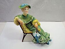 Vintage Royal Doulton Figurine Ascot, Woman Sitting on Chair, HN 2356
