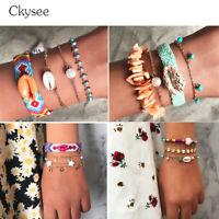 New Friendship Bracelets For Children Handmade Woven Shell Star Pendant Bracelet
