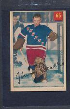 1954/55 Parkhurst #065 PB Johnny Bower Rangers EX *61