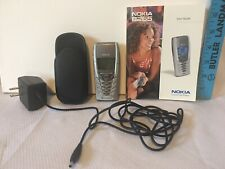 Nokia 8265 Silver Cell Phone Cincinnati Bell W/ Manual, Case & Charger Tested