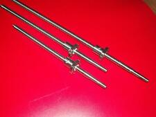 2 Pcs RM2005 Ballscrew Nut 1 XRM2005--500 //900 mm anti backlash Ballscrews