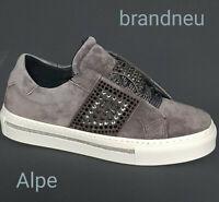 NEU Alpe Damen edel Sneaker Schuhe grau grey Leder  36 - 41
