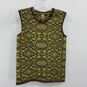 Athleta Tank Top Womens M Stride Seamless Shirt Green Floral Sleeveless Running