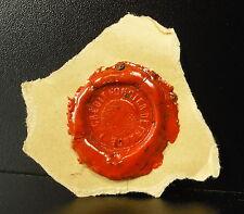 Crédit Foncier de France  Cachet de cire armoirie seal Sceau tampon héraldique