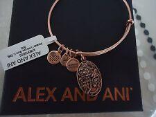 Alex and Ani Because I Love You MOM II ROSE GOLD FINISH Bangle NWT Card & Box