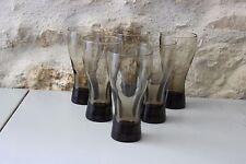 6 anciens verres - Vintage - Verres fumés