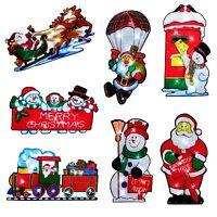 Light Up LED Battery Window Silhouette Merry Christmas - Santa Train 25cm