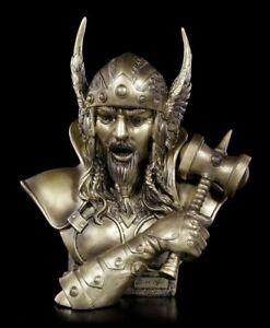 Thor Büste mittel S1 - Figur Wikinger Deko Gott Hammer Statue Asen