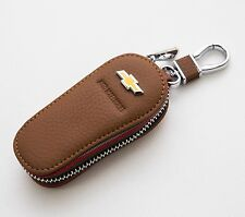 Natural Leather Brown Smart Folding Key Case Holder For GM Chevrolet Trax