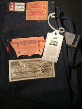 Levis Vintage BIG E 1966 501 Selvedge Rigid Jeans Made in USA : Size 33/34