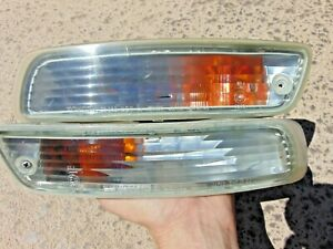 96-99 Toyota Celica Clear Lens Turn Signal Marker Lights LH & RH Both Tested OEM