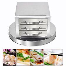 3 Layer Steamer Kitchen Food Steaming Machine Stainless Steel +Spare Drawer