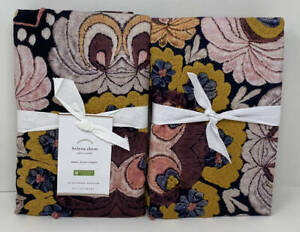 Pottery Barn Helena Embroidered Floral EURO Shams (Set of 2) ~ Multi