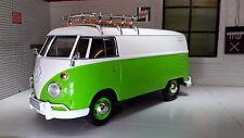 G 1:24 Escala Verde VW T1 Vidrio Dividido Entrega Furgoneta modelo fundido 1962