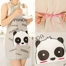 Panda Pattern Cartoon Waterproof Women Kitchen Restaurant Cooking Bib Apron