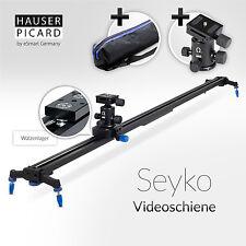 """HAUSER & PICARD Kamera Schiene Camera Slider """"Seyko"""" 120 cm mit Kugelkopf"""