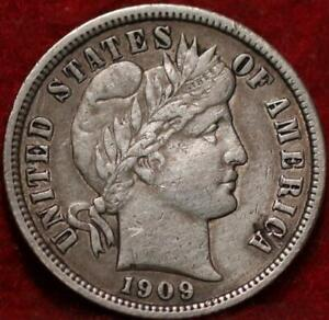 1909 Philadelphia Mint Silver Barber Dime
