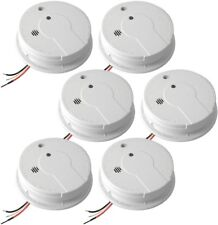 Smoke Alarm 120V Hardwire Inter-Connectable Hush Feature Battery Backup (6-Pack)