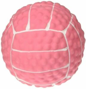 """Coastal Lil Pals 2"""" Mini Pink Latex Bumpy Volleyball Ball Dog Toy With Squeaker"""