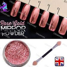 ROSE ORO MIRROR reale 100% di polvere ROSE oro effetto cromato Pigmento Premiere! (W)