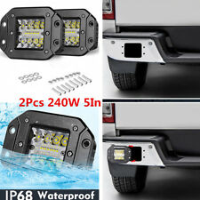 2Pcs Flush Mount 240W LED Work Light Spot Flood Lamps For Truck Jeep Off-Road
