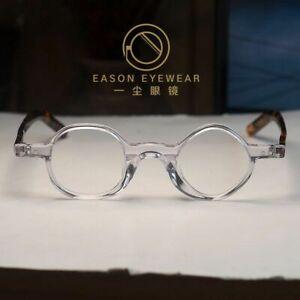 Vintage solid acetate geometric eyeglasses mens rx clear glasses tortoise legs