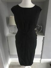 Marks & Spencer Charcoal Grey Sheath Peplum Dress Size 14