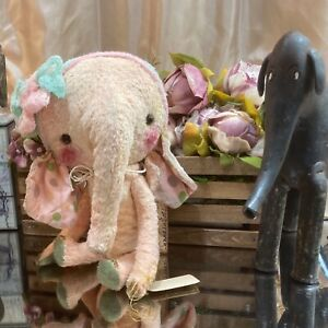 "11"" OOAK 2021 'TERRIFIC TOULA' ELLYFANT ELEPHANT DEB BEARDSLEY/BEARDSLEY BEARS"