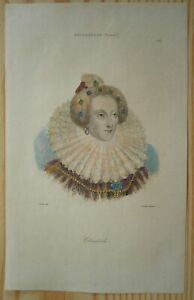 1842 portrait print ELIZABETH I, QUEEN OF ENGLAND (#102)