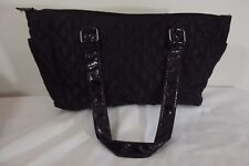 Black Quilted ULTRA CHI Purse Bag ~ Zip Closure ~ 2 Straps