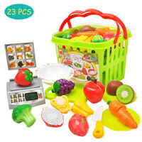 23PCS Food Toy Cutting Fruit Vegetable Pretend Toy Children Kid Educational Toy