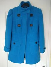 LADIES BLUE PRIMARK COAT, SIZE 12 - NEVER WORN
