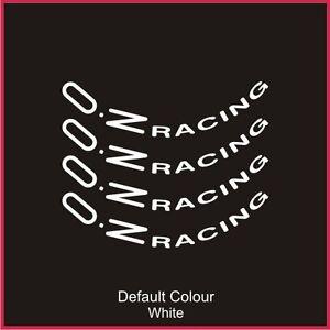 "Oz Racing Wheel Decals 17"" X8,Vinyl, Sticker, Graphics,Car, Wheels, N2082"