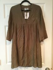"Essentiel Antwerp Olive Green ""Molaire"" Dress, Size 34, 2 (US) NWT! $320"