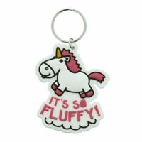 Despicable Me It's So Fluffy Unicorn Rubber Keyring Keychain - Agnes