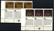 United Nations Geneva 1992 SG#G224-5 Human Rights MNH Set + Labels #D50063