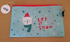 LOQI Christmas Zip Pocket Let It Snow - beauty case pochette