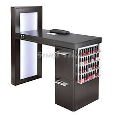 Nail Art Desk Manicure Table Salon Technician Pedicure Workstation Storage Fan