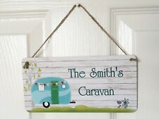 Personalised caravan plaque sign - Great gift - Any name