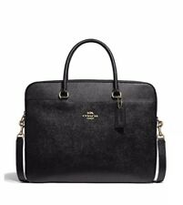 Coach Laptop Bag Woman's Leather Black/Gold NWT F39022 MSRP$395