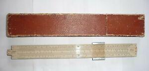Vintage Cased ' Unique' Log Slide Rule Draughtsmans Instrument