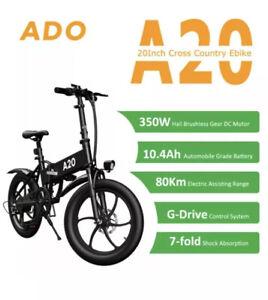 "ADO A20 XIOAMI E-Bike Folding 20"" Electric Bicycle, UK Seller 🇬🇧 Instock-black"