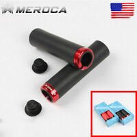 Mountain Bike MTB Non-Slip Silicone Handlebar Grips Cover End Plugs Lock-on 76g