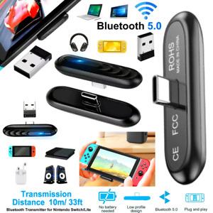 Adaptador Bluetooth Receptor de audio para TV Nintendo Switch/Lite PS4 PC 2021**