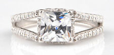 Real 14KT White Gold With 3.90 Carat Princess Shape Solitaire Engagement Ring