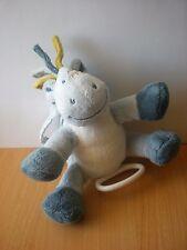 Doudou Cheval poney noukies bleu musical lucien